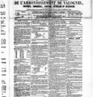 Le Journal de l'arrondissement de Valognes, numéro du 12 mars 1880