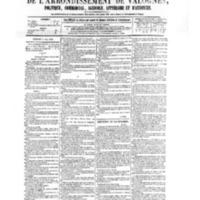 Le Journal de l'arrondissement de Valognes, numéro du 02 mai 1879