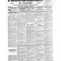 Le Journal de l'arrondissement de Valognes, numéro du 04 novembre 1939