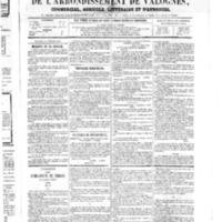 Le Journal de l'arrondissement de Valognes, numéro du 24 février 1865