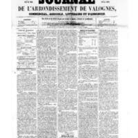 Le Journal de l'arrondissement de Valognes, numéro du 16 septembre 1859
