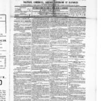 Le Journal de l'arrondissement de Valognes, numéro du 17 décembre 1886