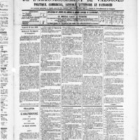 Le Journal de l'arrondissement de Valognes, numéro du 21 juin 1889