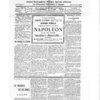 Le Journal de l'arrondissement de Valognes, numéro du 25 octobre 1930