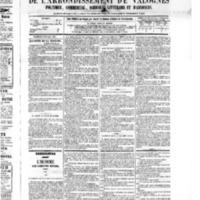 Le Journal de l'arrondissement de Valognes, numéro du 30 juillet 1875