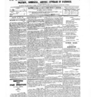 Le Journal de l'arrondissement de Valognes, numéro du 12 août 1881