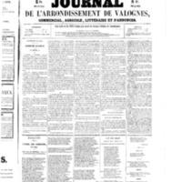 Le Journal de l'arrondissement de Valognes, numéro du 11 avril 1856