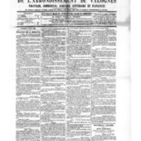 Le Journal de l'arrondissement de Valognes, numéro du 09 avril 1886