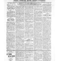 Le Journal de l'arrondissement de Valognes, numéro du 03 septembre 1909