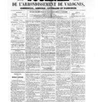 Le Journal de l'arrondissement de Valognes, numéro du 04 mars 1859