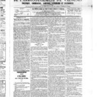 Le Journal de l'arrondissement de Valognes, numéro du 20 août 1875