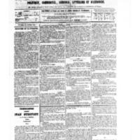 Le Journal de l'arrondissement de Valognes, numéro du 28 octobre 1881