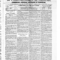 Le Journal de l'arrondissement de Valognes, numéro du 06 septembre 1867