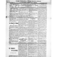 Le Journal de l'arrondissement de Valognes, numéro du 15 décembre 1928
