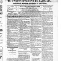 Le Journal de l'arrondissement de Valognes, numéro du 10 mai 1867