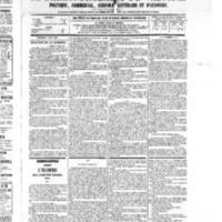 Le Journal de l'arrondissement de Valognes, numéro du 06 août 1875