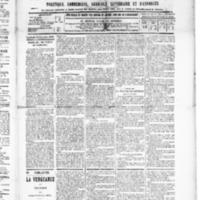 Le Journal de l'arrondissement de Valognes, numéro du 19 décembre 1890