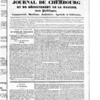 Le Journal de Cherbourg et du département de la Manche, numéro du 22 septembre 1833