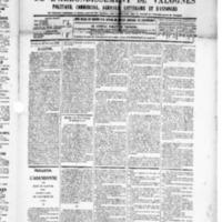 Le Journal de l'arrondissement de Valognes, numéro du 28 février 1890