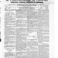 Le Journal de l'arrondissement de Valognes, numéro du 13 septembre 1867