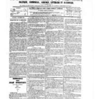 Le Journal de l'arrondissement de Valognes, numéro du 04 novembre 1881