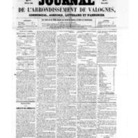 Le Journal de l'arrondissement de Valognes, numéro du 15 juillet 1859