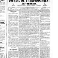 Le Journal de l'arrondissement de Valognes, numéro du 22 mars 1850