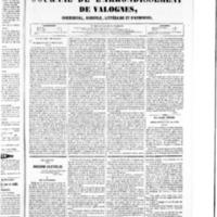 Le Journal de l'arrondissement de Valognes, numéro du 20 février 1852