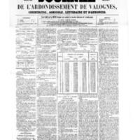 Le Journal de l'arrondissement de Valognes, numéro du 17 juin 1859