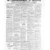 Le Journal de l'arrondissement de Valognes, numéro du 07 mai 1909