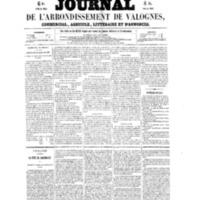 Le Journal de l'arrondissement de Valognes, numéro du 15 janvier 1858