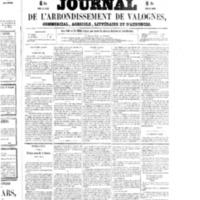 Le Journal de l'arrondissement de Valognes, numéro du 04 avril 1856