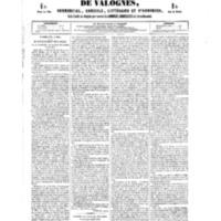 Le Journal de l'arrondissement de Valognes, numéro du 05 mai 1854