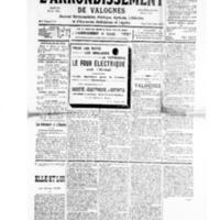 Le Journal de l'arrondissement de Valognes, numéro du 19 octobre 1935