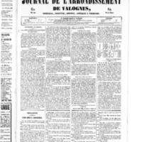 Le Journal de l'arrondissement de Valognes, numéro du 25 janvier 1850