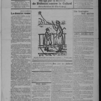 Le Coup de canon, numéro du 01 février 1918