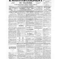 Le Journal de l'arrondissement de Valognes, numéro du 18 novembre 1939
