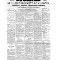 Le Journal de l'arrondissement de Valognes, numéro du 19 août 1859
