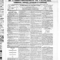 Le Journal de l'arrondissement de Valognes, numéro du 12 juillet 1867