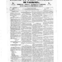 Le Journal de l'arrondissement de Valognes, numéro du 28 juillet 1854