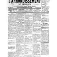 Le Journal de l'arrondissement de Valognes, numéro du 23 septembre 1939