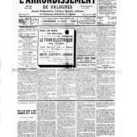Le Journal de l'arrondissement de Valognes, numéro du 30 mars 1935