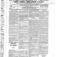 Le Journal de l'arrondissement de Valognes, numéro du 08 octobre 1875