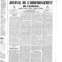 Le Journal de l'arrondissement de Valognes, numéro du 23 août 1850