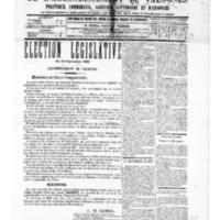 Le Journal de l'arrondissement de Valognes, numéro du 20 septembre 1889