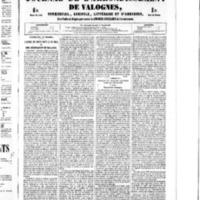 Le Journal de l'arrondissement de Valognes, numéro du 01 octobre 1852