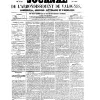 Le Journal de l'arrondissement de Valognes, numéro du 25 novembre 1859