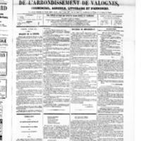 Le Journal de l'arrondissement de Valognes, numéro du 15 mars 1867