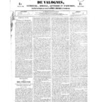 Le Journal de l'arrondissement de Valognes, numéro du 12 mai 1854