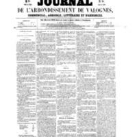 Le Journal de l'arrondissement de Valognes, numéro du 23 avril 1858